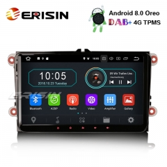 "Erisin ES8991V 9"" DAB+ Radio Android 8.1 Car GPS Satnav OPS BT OBD for VW Golf Passat Tiguan Polo Seat"