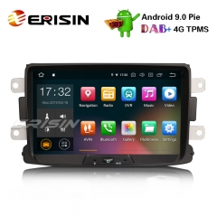 "Erisin ES4829D 8"" Android 9.0 Autoradio GPS 4G DAB Car Radio for Renault Dacia Duster Logan Sandero Dokker Lodgy"