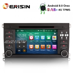 "Erisin ES7897S 7"" Octa-Core Car Stereo Android 8.0 DAB+ BT CD GPS for PORSCHE CAYENNE"