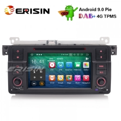 "Erisin ES7962B-64 7"" Android 9.0 Car Stereo GPS DAB+ CD Bluetooth DTV DVR SD BMW E46 M3 Rover75 MG ZT"