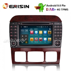 "Erisin ES7982S-64 7"" Android 9.0 Car Stereo GPS DAB+ CD Mercedes Benz S/CL Class W220 W215 S500 CL55"