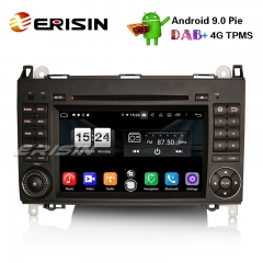 "Erisin ES7702B 7"" DAB+ 4G Android 9.0 Car DVD Player GPS for Mercedes A/B Class Sprinter Vito Viano Crafter"