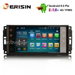 "Erisin ES7976J-64 7"" DAB+ Android 9.0 Autoradio OBD GPS Sat for Jeep Compass Wrangler Commander Dodge Chrysler"