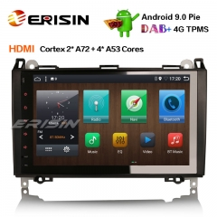 "Erisin ES6292B 9"" PX6 Android 9.0 DAB+ Autoradio GPS Navi HDMI for Mercedes Benz A/B Classe Sprinter Viano VW Crafter"