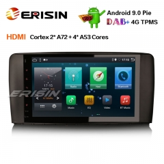 "Erisin ES6285R 9"" PX6 Android 9.0 Car Stereo GPS DAB+ Sat Nav Wifi HDMI for Mercedes R Class W251"