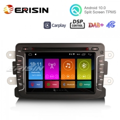 "Erisin ES3029D 7"" DAB+ Android 10.0 Car Radio GPS CarPlay DSP for Renault Dacia Duster Sandero Dokker Lodgy"