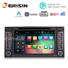 "Erisin ES8156T 7"" Android 10.0 Car DVD for VW T5 Multivan TOUAREG DSP CarPlay & Auto GPS TPMS DAB+ 4G 64G"