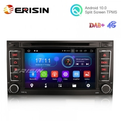 "Erisin ES5956T 7"" Android 10.0 Car Multimedia for VW T5 Multivan TOUAREG GPS Radio WiFi BT TPMS DVR DTV DAB-IN DVD Player"
