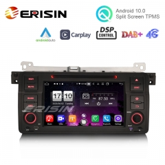 "Erisin ES8746B 7"" DSP Android 10.0 Car DVD CarPlay & Auto GPS 4G DAB+ for BMW E46 318 320 325 M3 Rover75 MG ZT"
