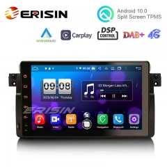 "Erisin ES8796B 9"" Android 10.0 Car Stereo for BMW E46 PX5 DSP 64G CarPlay & Auto GPS 4G DAB+ WiFi Sat Nav"