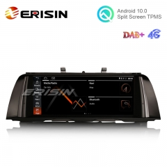 "Erisin ES2625B 10.25"" Android 10.0 Car Stereo for BMW F10/F11 GPS WiFi 4G TPMS DVR DAB+ IPS Screen"